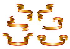 Free Gold Ribbons Stock Photography - 14987862