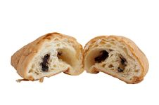 Free Croissant With Chocolate Filling Stock Photo - 14988480