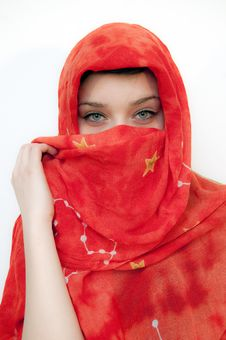 Free Beautiful Green Eyes Girl Stock Images - 14988734