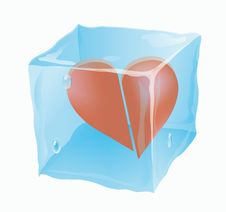 Free The Frozen Cube In Which The Broken Heart Royalty Free Stock Photos - 14989228