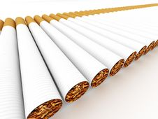 Free Row Of Cigarettes Royalty Free Stock Image - 14989296