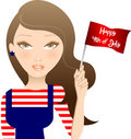 Free Fourth Of July Girl Royalty Free Stock Photos - 14992648