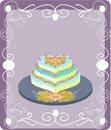 Free Greeting Card With Wedding Cake Royalty Free Stock Photo - 14993725