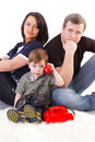 Free Happiness Family On The White Background Royalty Free Stock Photos - 14995288