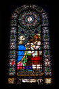 Free The Stained Glass In Montserrat Stock Photo - 14997620