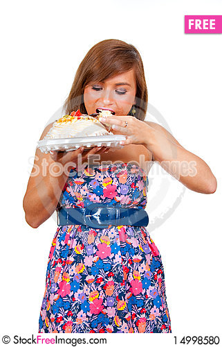 Free Girl Eat Cake Stock Photo - 14998580