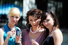 Free Three Young Women Stock Photography - 14990642