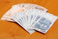 Croatian Kuna Banknotes HRK Stock Images