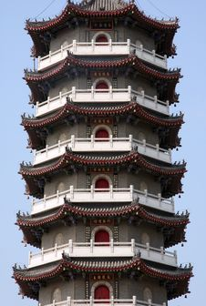 Free PART OF CHINESE PAGODA Stock Image - 14991801