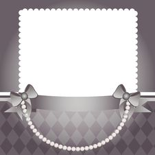 Pearl And Bows Template Stock Photo