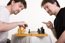 Free Two Men Play A Chess Stock Image - 14993341