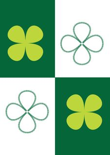 Picture Of Four-leaf Clover Royalty Free Stock Photos