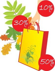 Free Package In A Woman Hand On The Leafy Background Stock Photos - 14993803