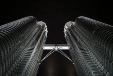 Free Petronas Towers In Nighttime Stock Image - 14993851