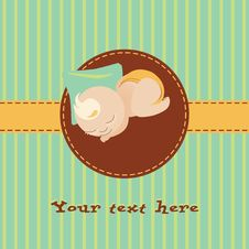 Free Baby Greetings Card Stock Images - 14994054