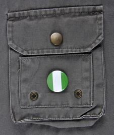 Nigeria Supporter Royalty Free Stock Images