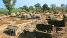 Hut In Poor Village In  India Royalty Free Stock Photos