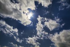 Free Blue Sky, Natural Sun Stock Image - 14994841