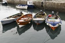 Free Group Of Small Fishing Boats Royalty Free Stock Images - 14996199