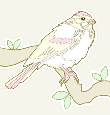 Free Cute Hand Drawn Bird Royalty Free Stock Photography - 14996207