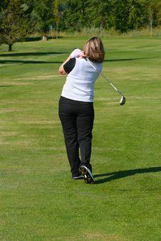 Female Golfer Royalty Free Stock Photos