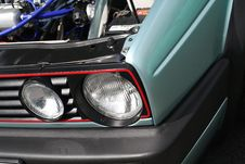 Car Headlights Stock Images