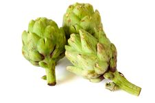 Free Artichokes Isolated On White Background Royalty Free Stock Images - 14996559