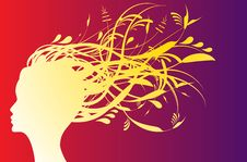 Free Floral Girl Silhouette Stock Images - 14996584