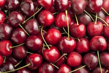 Free Red Cherries Background Stock Image - 14996621