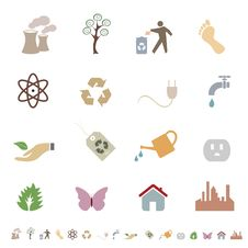 Free Clean Environment And Eco Symbols Royalty Free Stock Photo - 14997395