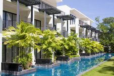 Swimming Pool In Thailand Hotel Royalty Free Stock Photos