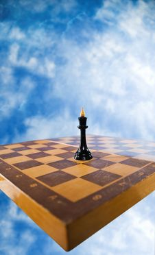 Free Chess Figure On A Chessboard Stock Images - 14998524