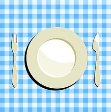 Free Plate, Fork And Knife Stock Photos - 14998723
