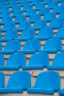 Free Blue Empty Stadium Seats Stock Photo - 14998780