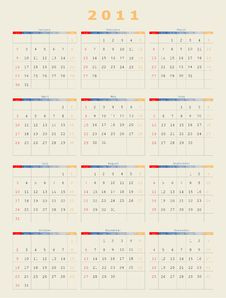 Free 2011 Calender Plain Type Stock Images - 14999094