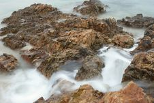 Free Water Blurred On Rocks Stock Photos - 14999753