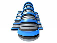 Free Gruop Of 3D Server Towers Stock Photos - 151373