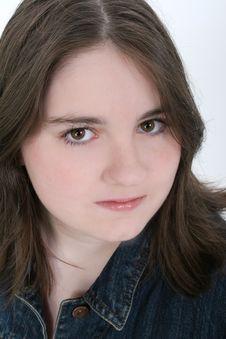 Free Beautiful Thirteen Year Old Girl Close Up Royalty Free Stock Photo - 151725
