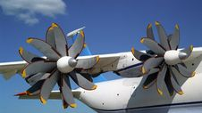 Free Propellers Of AN-70 Airplane 2 Stock Images - 152784
