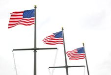 Three Flags Royalty Free Stock Image