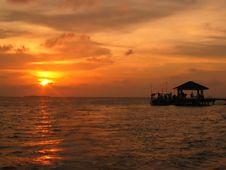 Free Sunset Jetty Stock Photography - 155432