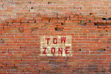 Free Tow Zone Warning Stock Image - 158601