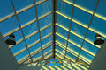 Free Blue Ceiling In The Office Royalty Free Stock Photos - 1503608