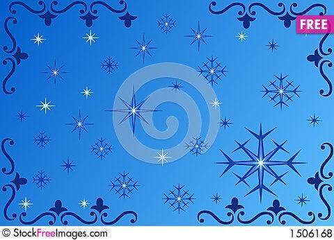 Snowflake background - vector Stock Photo
