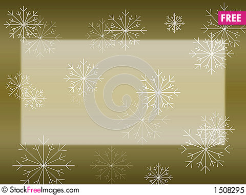 Snowflake on Gold Card Stock Photo