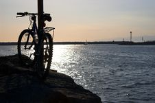 Free Bicycle Along The Shore Stock Photo - 1500660