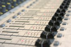 Free Mixing Console Royalty Free Stock Image - 1500916