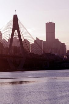 Anzac Bridge In Evening Light Stock Photo