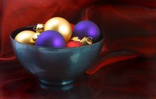 Bowl Of Ornaments Stock Photography