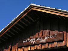 Free Covered Bridge Roof Stock Images - 1502544